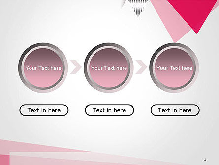 Abstract Pink Flat Triangles PowerPoint Template Slide 5