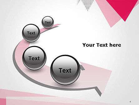 Abstract Pink Flat Triangles PowerPoint Template Slide 6
