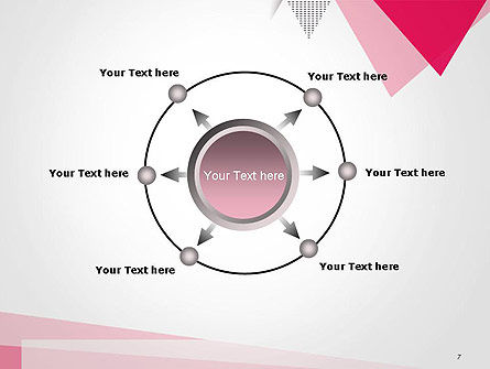 Abstract Pink Flat Triangles PowerPoint Template Slide 7