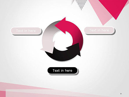 Abstract Pink Flat Triangles PowerPoint Template Slide 9
