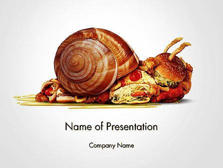 Medical: Sluggish Diet PowerPoint Template #14436