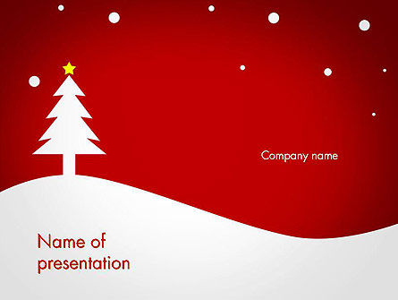 Holiday/Special Occasion: Christmas Day Background PowerPoint Template #14437