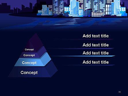 Night City Light PowerPoint Template Slide 10