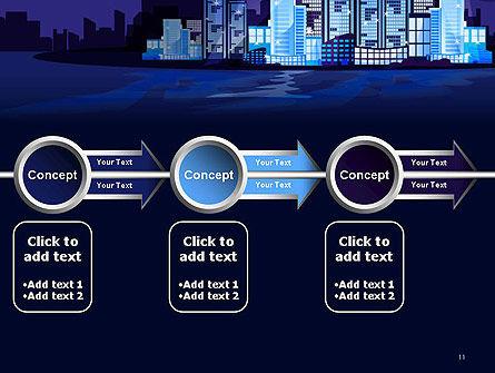 Night City Light PowerPoint Template Slide 11