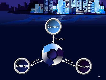 Night City Light PowerPoint Template Slide 12