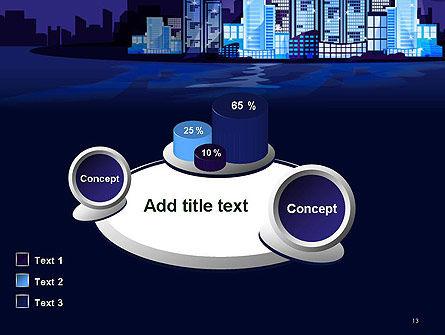 Night City Light PowerPoint Template Slide 13