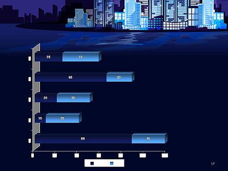Night City Light PowerPoint Template Slide 17