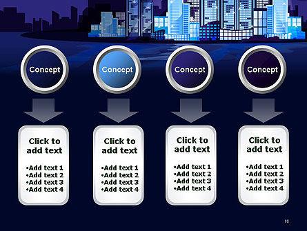 Night City Light PowerPoint Template Slide 18