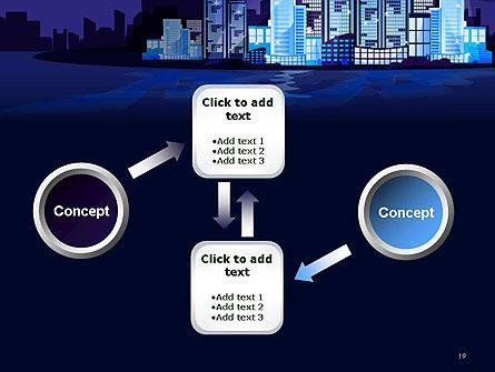 Night City Light PowerPoint Template Slide 19