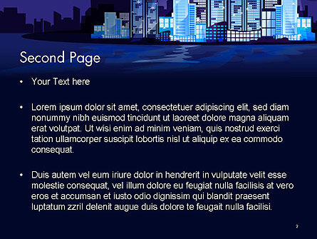 Night City Light PowerPoint Template, Slide 2, 14438, Construction — PoweredTemplate.com