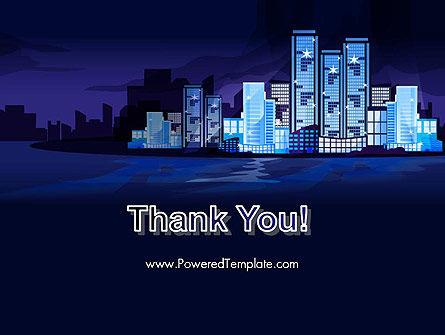 Night City Light PowerPoint Template Slide 20