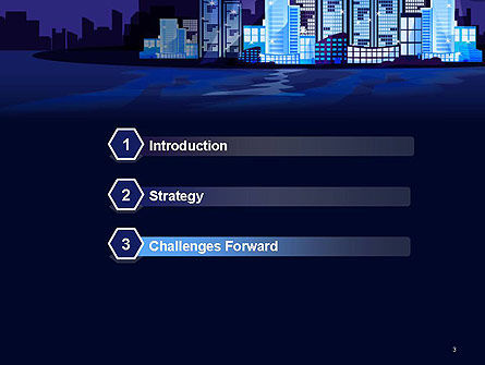 Night City Light PowerPoint Template, Slide 3, 14438, Construction — PoweredTemplate.com
