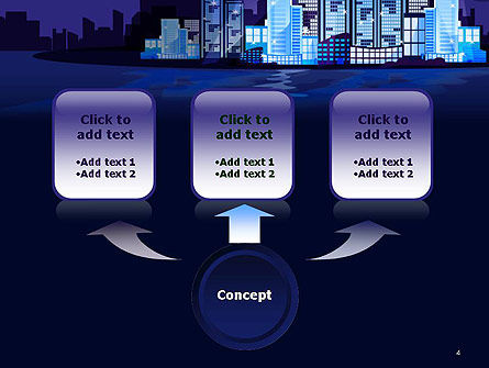Night City Light PowerPoint Template, Slide 4, 14438, Construction — PoweredTemplate.com