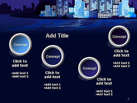 Night City Light PowerPoint Template Slide 6