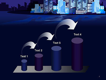 Night City Light PowerPoint Template Slide 7