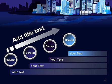 Night City Light PowerPoint Template Slide 9