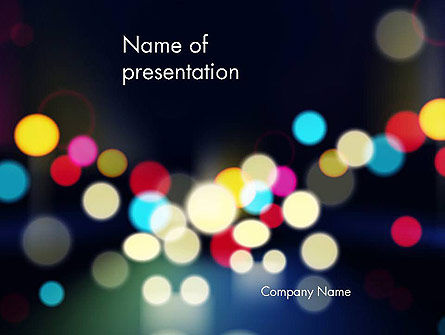 City Blur Background PowerPoint Template, 14441, Abstract/Textures — PoweredTemplate.com
