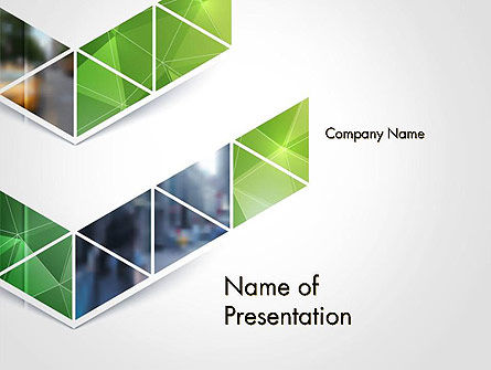 Geometric Shapes on White Background PowerPoint Template, 14443, Abstract/Textures — PoweredTemplate.com