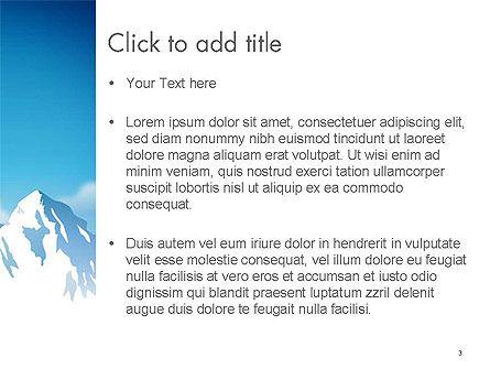 Snowy Mountains PowerPoint Template, Slide 3, 14444, Nature & Environment — PoweredTemplate.com