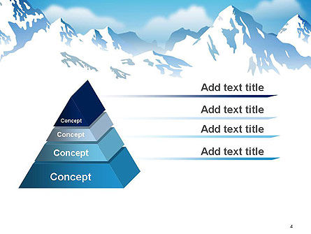 Snowy Mountains PowerPoint Template, Slide 4, 14444, Nature & Environment — PoweredTemplate.com