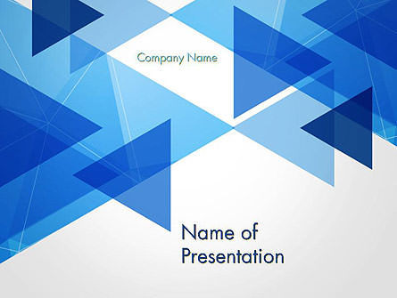 Transparent Blue Flat Triangles PowerPoint Template