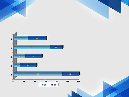 Transparent Blue Flat Triangles PowerPoint Template Slide 11