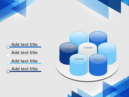 Transparent Blue Flat Triangles PowerPoint Template Slide 12
