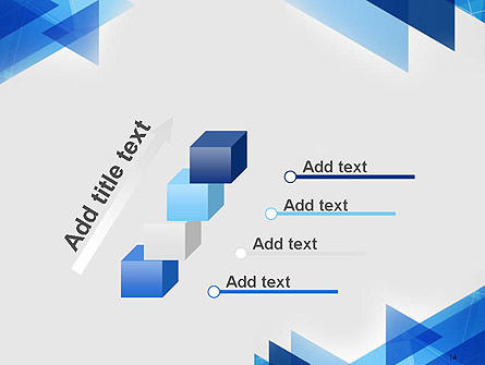 Transparent Blue Flat Triangles PowerPoint Template Slide 14