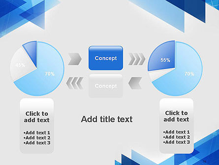 Transparent Blue Flat Triangles PowerPoint Template Slide 16