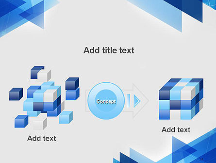Transparent Blue Flat Triangles PowerPoint Template Slide 17