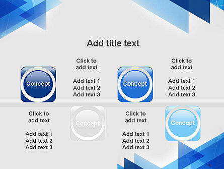 Transparent Blue Flat Triangles PowerPoint Template Slide 18