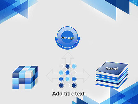 Transparent Blue Flat Triangles PowerPoint Template Slide 19