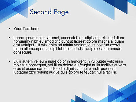Transparent Blue Flat Triangles PowerPoint Template Slide 2
