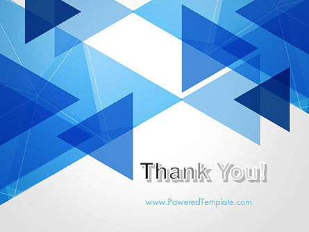 Transparent Blue Flat Triangles PowerPoint Template Slide 20
