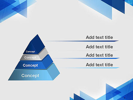 Transparent Blue Flat Triangles PowerPoint Template Slide 4