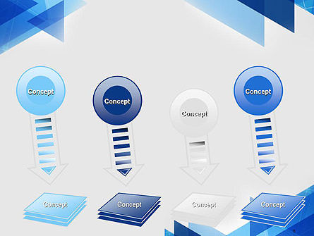 Transparent Blue Flat Triangles PowerPoint Template Slide 8
