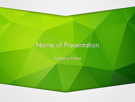 Abstract Green Triangle Background PowerPoint Template