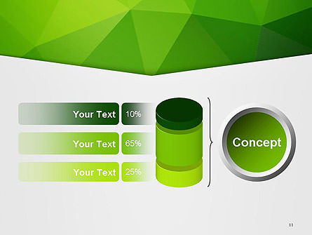 Abstract Green Triangle Background PowerPoint Template Slide 11