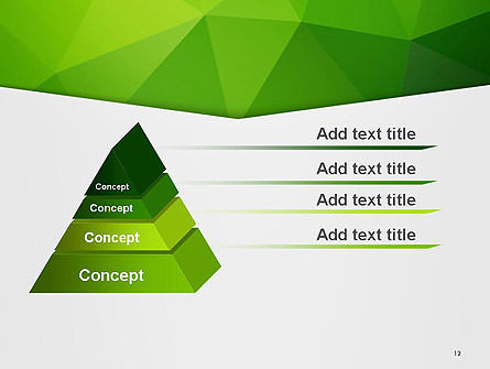 Abstract Green Triangle Background PowerPoint Template Slide 12