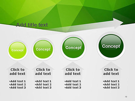 Abstract Green Triangle Background PowerPoint Template Slide 13