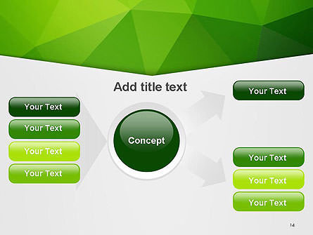 Abstract Green Triangle Background PowerPoint Template Slide 14