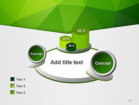 Abstract Green Triangle Background PowerPoint Template Slide 16