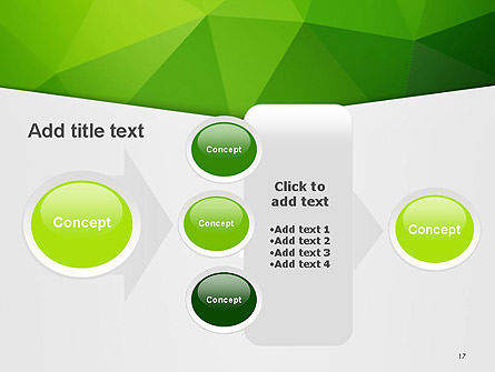 Abstract Green Triangle Background PowerPoint Template Slide 17