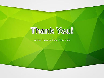 Abstract Green Triangle Background PowerPoint Template Slide 20