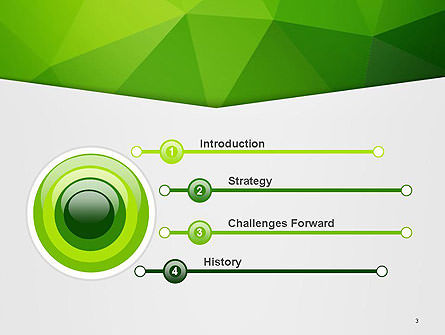 Abstract Green Triangle Background PowerPoint Template Slide 3