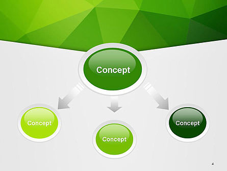 Abstract Green Triangle Background PowerPoint Template Slide 4
