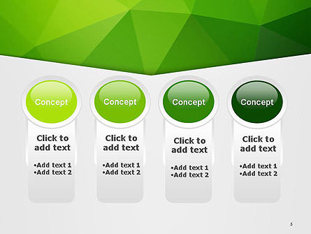 Abstract Green Triangle Background PowerPoint Template Slide 5