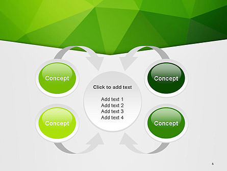 Abstract Green Triangle Background PowerPoint Template Slide 6