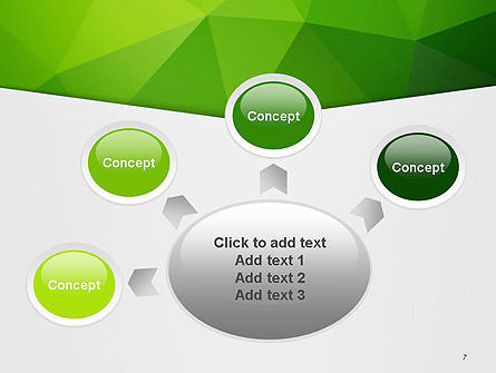 Abstract Green Triangle Background PowerPoint Template Slide 7