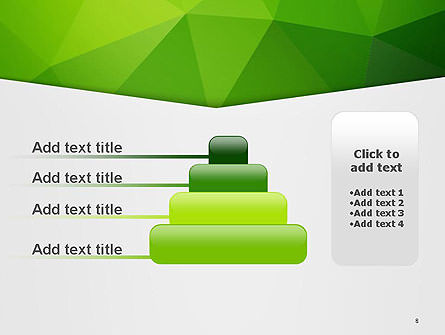 Abstract Green Triangle Background PowerPoint Template Slide 8